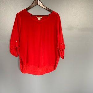 Fun & Flirt 3/4 Sleeve Blouse Red Size L
